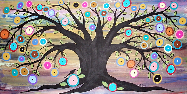 Tree Of Life Painting Painting - Tree Of Life And Bird by Karla Gerard