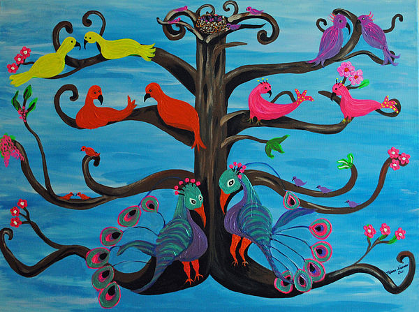 Mothers Day Painting - Tree Of Life by Melanie Wadman
