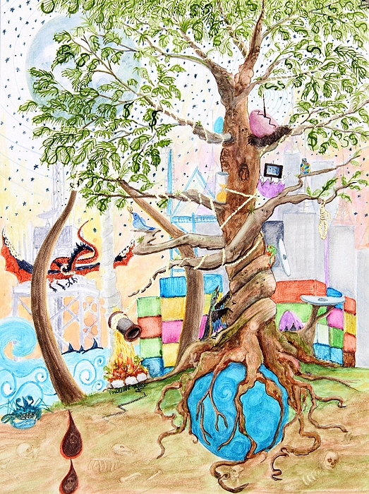 Tree Of Life Painting - Tree Of Life Spent by Pauline Ross