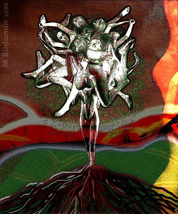 Women Digital Art - Tree Of Women 1 by MBL Binlamin