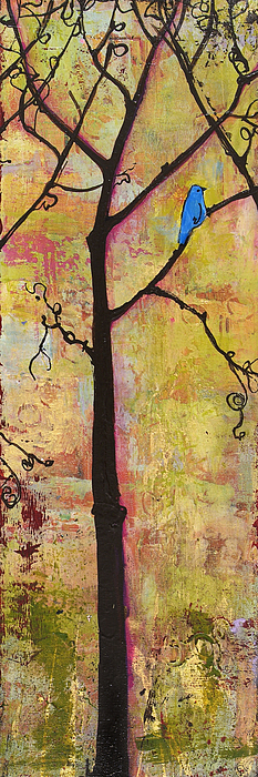 Triptych Painting - Tree Print Triptych Section 2 by Blenda Studio