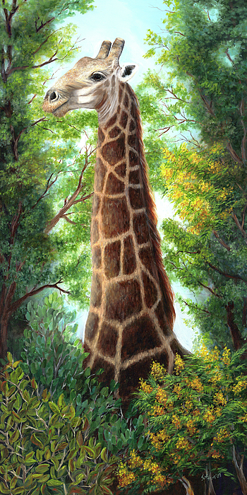 Animal Painting - Tree Top Browser by June Hunt