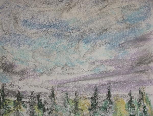 Trees Drawing - Tree Tops Fairhaven by Richard Bulman