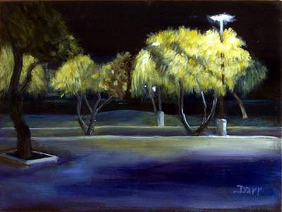Plein Air Painting - Trees Of Knowledge by Darr Sandberg