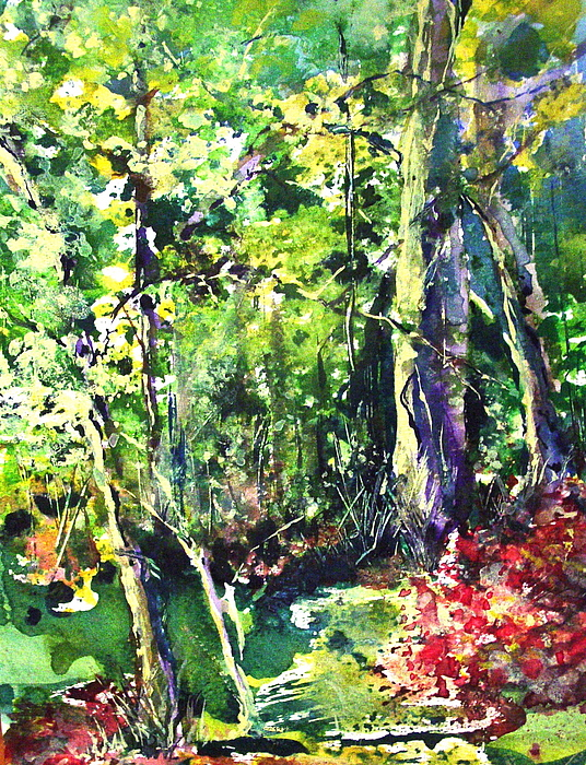 Trees Painting - Trees by Robin Miller-Bookhout