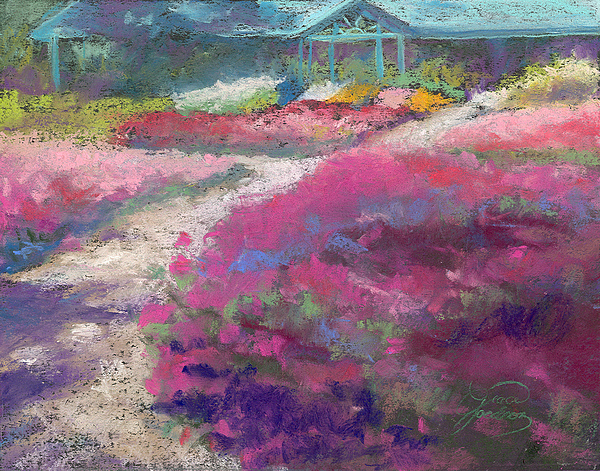 Landscape Painting - Trial Gardens In Fort Collins by Grace Goodson