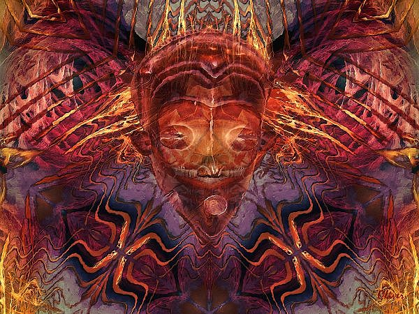 Tribal Callings Mixed Media by Charles Oliver