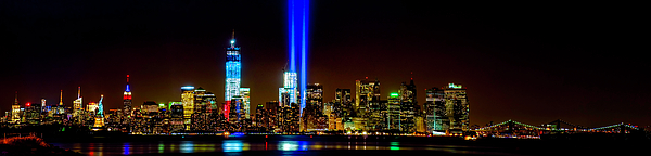 9-11 Photograph - Tribute In Light From Bayonne by Nick Zelinsky