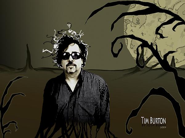Tim Burton Digital Art - Tribute by Josh Burns