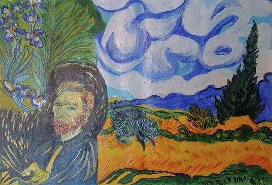 Tribute To A Master Painting by Iris Devadason