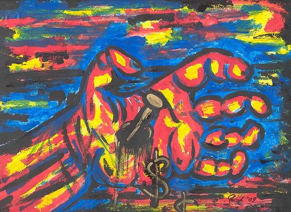 Martyrdom Painting - Trickle Down Economics II by Stuart Bracewell