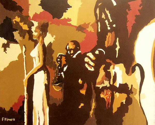 Trio Painting by Fabian Rivero