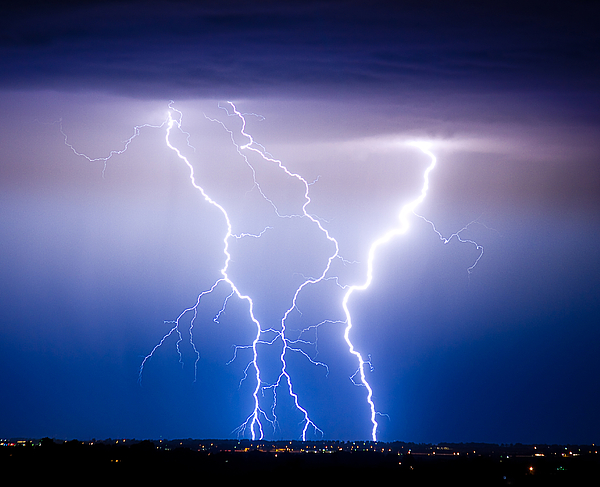 james Insogna Photograph - Triple Lightning by James BO  Insogna