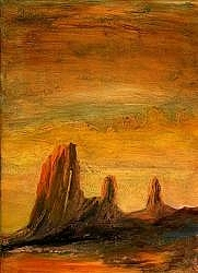 Arizona Landscape Painting - Triplets by Graham Murray