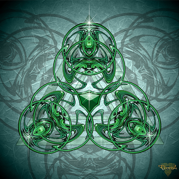 Graphic Design Digital Art - Triskellion by Greg Piszko