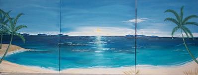 Tropical Beach Painting by Suzana Dancks
