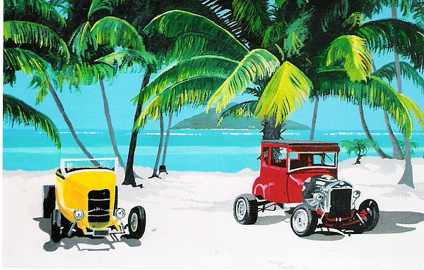 Tropical Painting - Tropical Fords by David Ellis