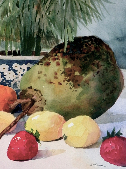 Cocoanut Painting - Tropical Fruit by Faye Ziegler