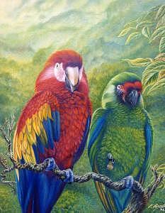 Tropical Harmony Painting by Pravit Rojawat
