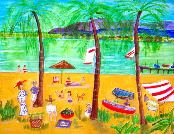 Island Painting - Tropical Island by Patricia Fragola