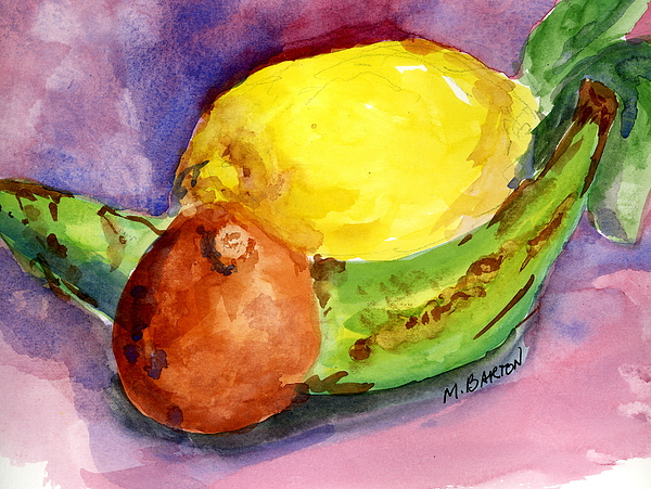 Fruit Painting - Tropical by Marilyn Barton