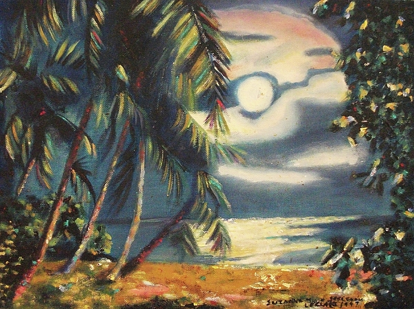 Tropical Painting - Tropical Nights by Suzanne  Marie Leclair
