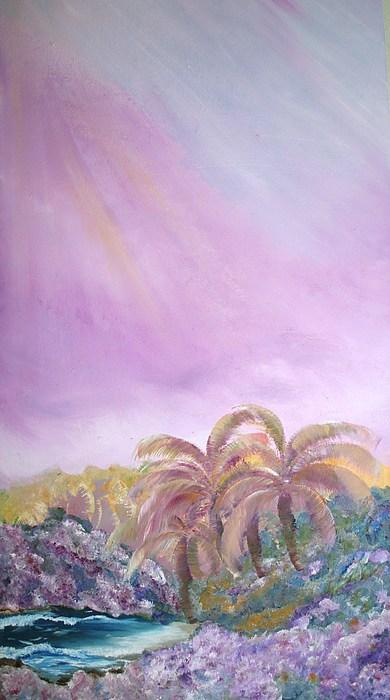 Tropical Storm Painting - Tropics by Ellen Young