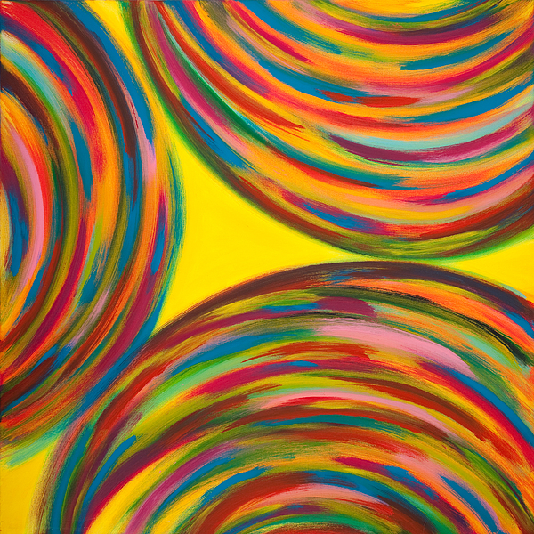 Spinning Painting - Trottole  by Monica Palermo
