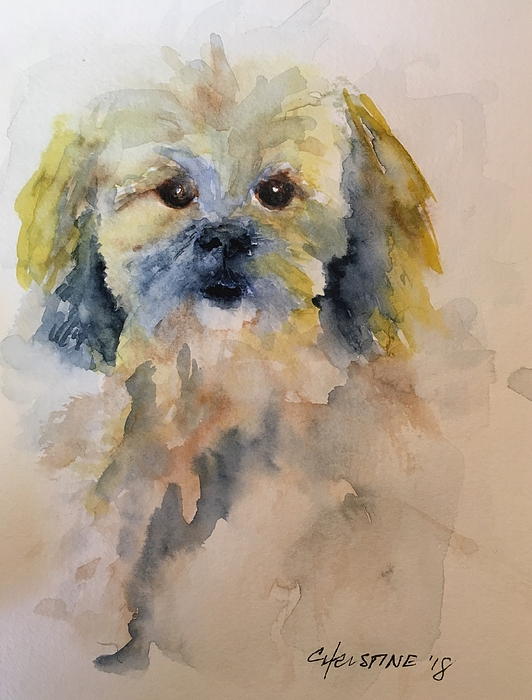 Dog Painting - Trouble by Christine Marie Rose