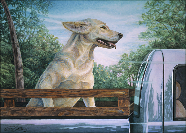 Dog In Truck Painting - Truck Queen  by Craig Gallaway