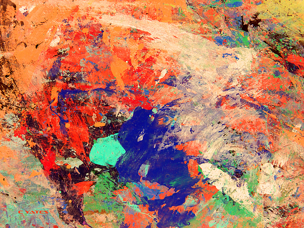 Abstract Painting - Try The Cause by Charles Yates