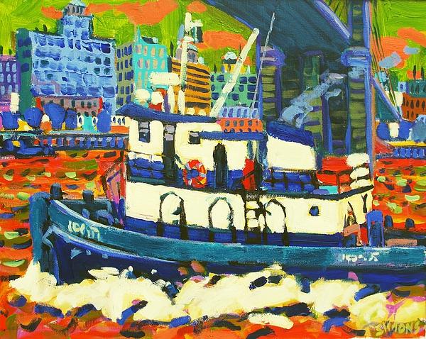 Paintings Painting - TUG by Brian Simons