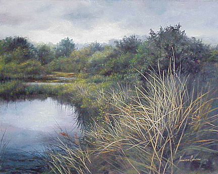 Oil Painting - Tule Marsh by Patricia Carlson