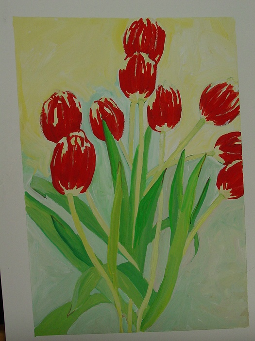Tulips Painting - Tulips by Marianne Neill