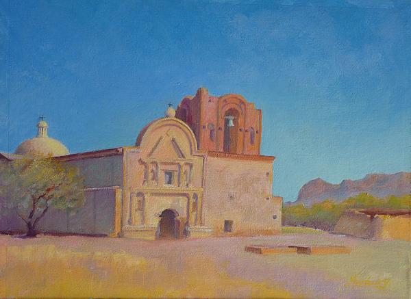 Southwest Painting - Tumacacori Mission by John Marbury