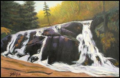 Waterfall Painting - Tumbling To Cache Lake by Don Sibley