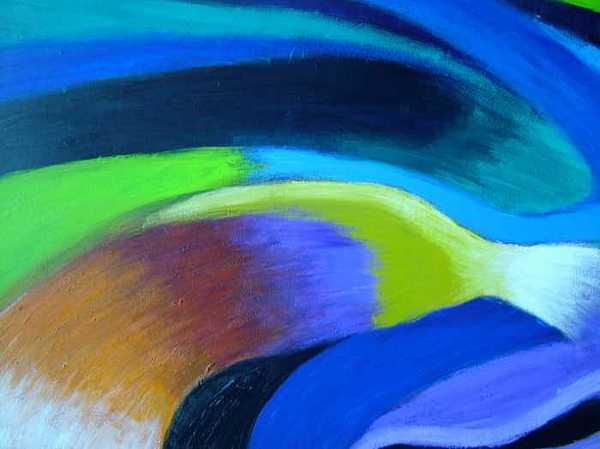 Turbulence Painting - Turbulence by Jan Gilmore