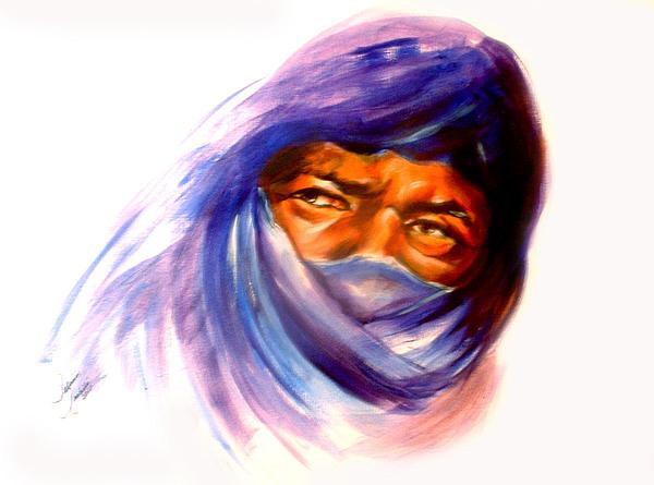 Portrait Painting - Tureg Man by Patricia Rachidi