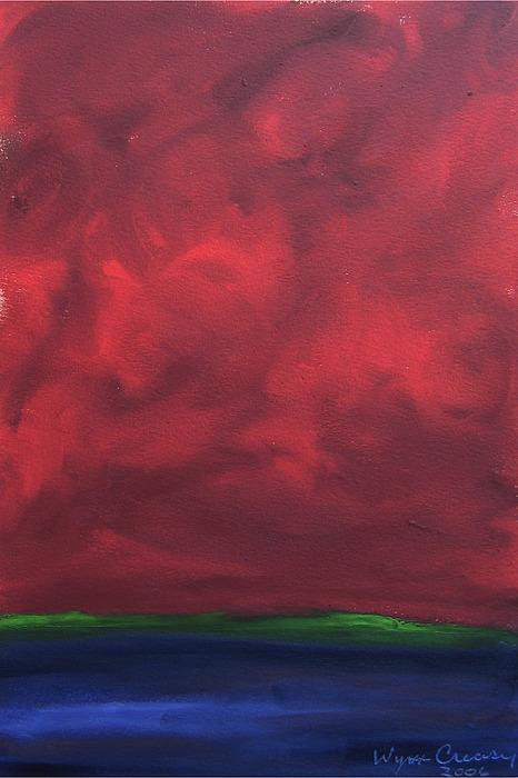 Abstract Landscape Painting - Turmoil by Wynn Creasy
