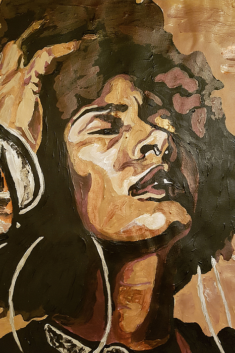 Black Woman Painting - Turn Up The Quiet by Rachel Natalie Rawlins