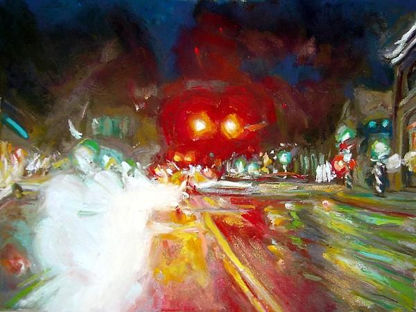 Pastel Painting - Turning Red by Cameron Hampton PSA