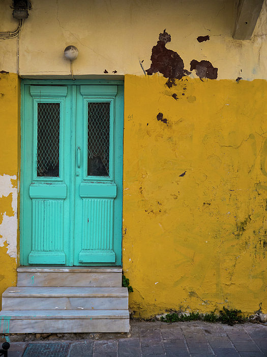 Door Photograph - Turquoise Entry by Rae Tucker