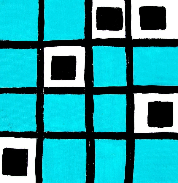 Painting Painting - Turquoise Squares by Marsha Heiken