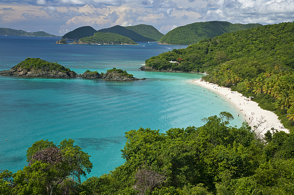 St. John Photograph - Turquoise Water At Trunk Bay, St. John by Michael Melford