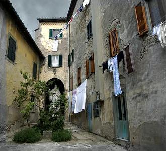 Tuscan Courtyard Photograph by Jane Baron