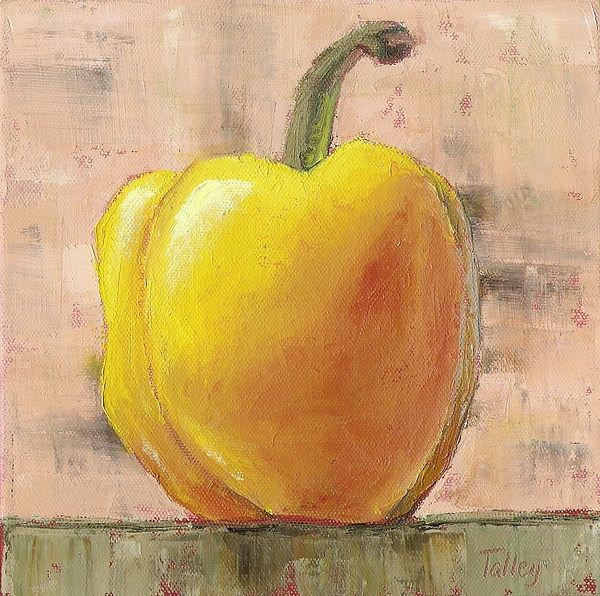 Yellow Painting - Tuscan Yellow Pepper by Pam Talley