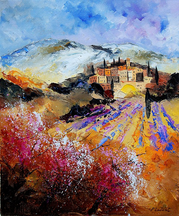 Provence Painting - Tuscany 56 by Pol Ledent