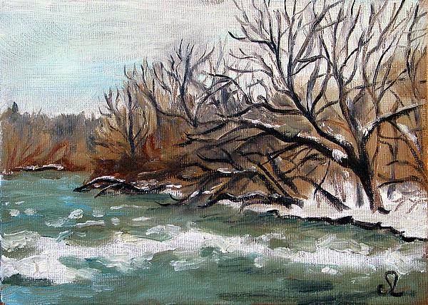 Landscape Painting - Twelve Mile Creek by Sarah Lynch
