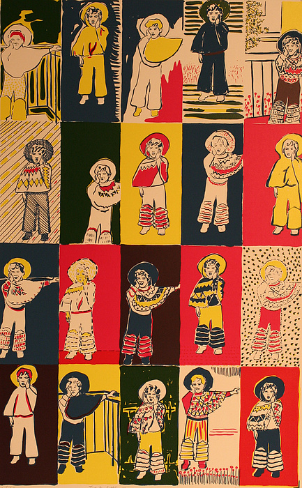 Twenty Little Mexicans Painting by Biagio Civale
