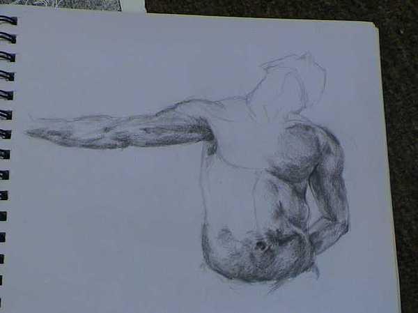 Figure Drawing Drawing - Twenty Minute Figure Drawing Number Thirteen by Neil Grotzinger